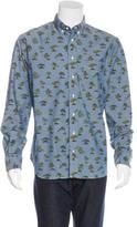 Gitman Brothers Tree Print Shirt