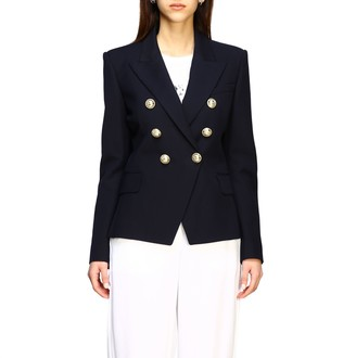 Balmain Jacket Double-breasted Jacket With Jewel Buttons