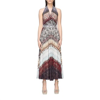 Missoni Long Dress With American Neckline In Lurex Jacquard