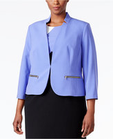 Nine West Plus Size Taylor Zip-Pocket Blazer