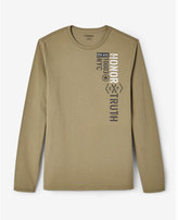 Express Honor Truth Long Sleeve Crew Neck Tee