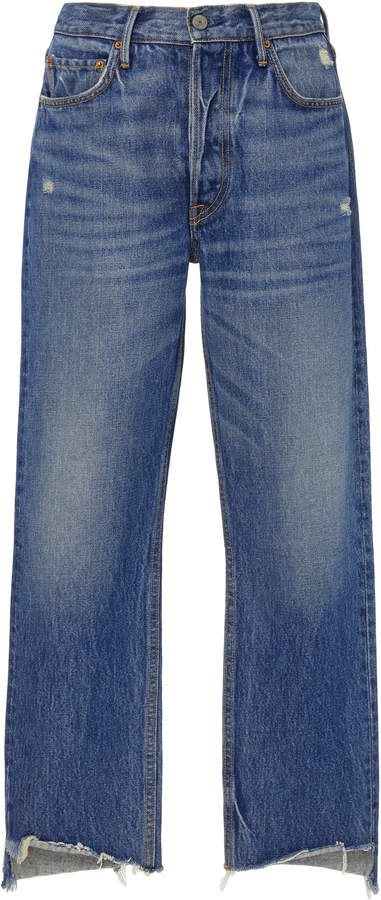 GRLFRND Denim Helena High-Rise Straight-Leg Jeans