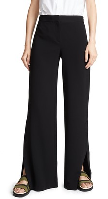 Theory Women's Wide Leg HIGH Slit Pant