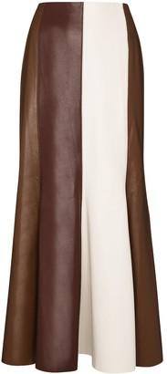 Nanushka Artem contrast-stripe midi skirt