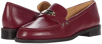 MICHAEL Michael Kors Finley Loafer (Dark Berry) Women's Shoes