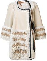 Chloé oversized patchwork shearling coat