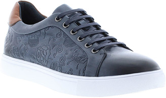 Robert Graham Men's Artfibers Skull-Embossed Leather Sneakers