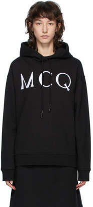 McQ Black Swallow Logo Hoodie