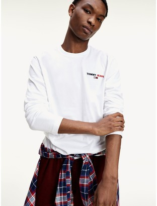 Tommy Hilfiger Organic Cotton Long Sleeve Logo T-Shirt