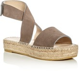 Bettye Muller Seven Suede Ankle Strap Platform Espadrille Sandals