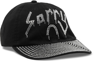 Sorry In Advance Crystal-Embellished Cotton-Twill Baseball Cap
