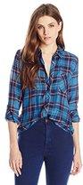Joie Women's Anabella L Plaid Button Down Shirt