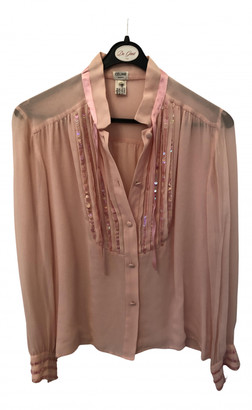 Celine Pink Silk Tops
