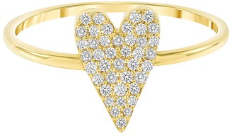 Ron Hami 14K Yellow Gold Heart Shaped Diamond Band Ring - 0.20 ctw