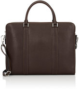 Barneys New York MEN'S THREE-COMPARTMENT BRIEFCASE-DARK BROWN