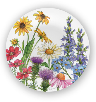 Bamboo Table Wildflowers Bamboo Dinner Plates, Set of 4