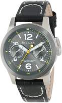 Invicta Women's 14144 I-Force Charcoal Dial Black Leather Watch