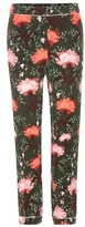 Erdem Giulia printed silk trousers