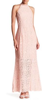 BB Dakota Lace Mock Neck Maxi Dress