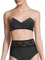 Fleur Du Mal Zipper Back Bandeau Bikini Top