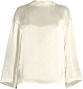 Toga Bell-sleeved satin blouse