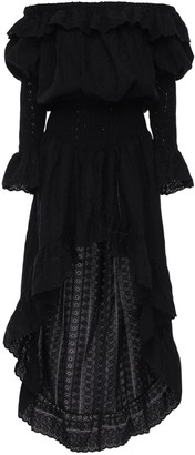 Anna Eyelet Lace High-Low Dress