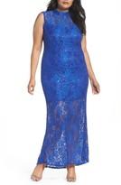 Marina Plus Size Women's Illusion Lace Gown