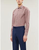 Pal Zileri Patterned slim-fit cotton-jersey shirt