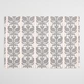 Floral Stripe Jacquard Nitika Placemats Set of 4