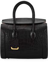 Alexander McQueen Heroine 35 Small Croc-Embossed Leather Tote Bag