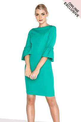 Paper Dolls Outlet Green Fluted Dress