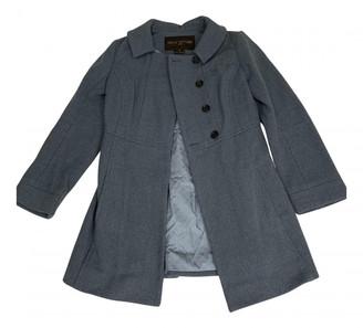 Louis Vuitton Blue Wool Trench coats