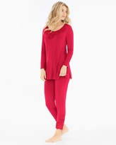 Soma Intimates Tunic Pajama Set Ruby