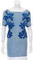 Stella McCartney Striped Scoop Neck T-Shirt