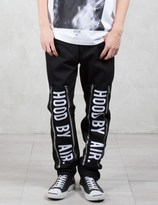 Hood by Air Double Zip Jeans with Embroidery