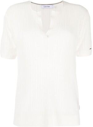Calvin Klein ribbed lightweight T-shirt