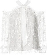 Needle & Thread embroidered lace blouse - women - Nylon/Polyester - 0