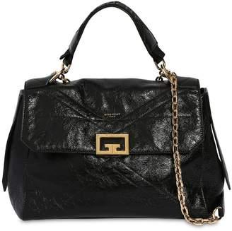Givenchy MEDIUM ID FLAP CRACKLE LEATHER BAG