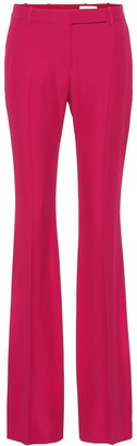 Alexander McQueen Mid-rise flared crepe pants