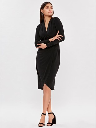 M&Co Black wrap dress