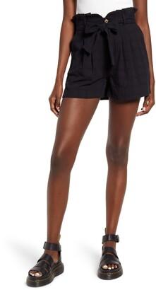 GOOD LUCK GEM Tie Front Shorts
