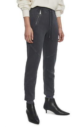 Anine Bing Colette Zip Pocket Cotton Jogger Pants