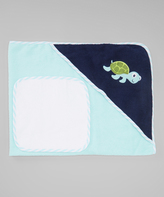Luvable Friends Blue Turtle Hooded Towel & Washcloth