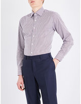 Canali Gingham-patterned regular-fit cotton shirt
