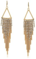 ABS by Allen Schwartz Embellished Chain Drop Earrings