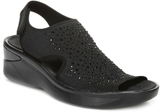 Bzees BZees Quarter-Strap Sandals with Rhinestone Detail - Saucy