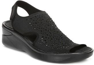 BZees Quarter-Strap Sandals with Rhinestone Detail - Saucy