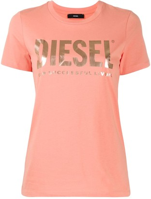 Diesel logo-print slim-fit T-shirt