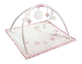 Trousselier Musical Early Learning Mat Butterfly/Angel Cotton Printed Pink Flowers/Romeo Music/Juliet Classic Chic Ideal Newborn Gift Easy to Install Pink