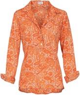 At Last... Orange Paisley Soho Shirt